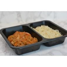 Menuschotel Goulash met rijst