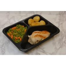 Menuschotel Kipfilet met erwt & wortel en aardappeltjes