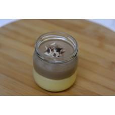 Duo chocomousse & vanillepudding